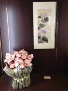 紫陽花-ピンクのコラボ