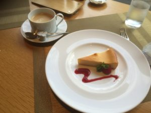 チーズケーキと珈琲セット