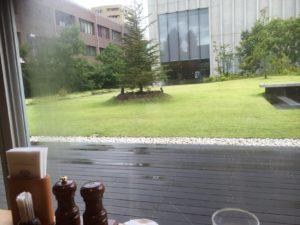 カフェから庭園の眺め
